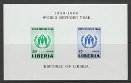 BLOC NEUF DU LIBERIA - ANNEE MONDIALE DU REFUGIE N° Y&T 15 - Refugees
