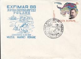 79284- SHIP, POLAR BEAR, POLAR NAVIGATION DAY, SPECIAL COVER, 1986, ROMANIA - Events & Commemorations