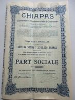 Action Belge : Chiapas - Compagnie Commerciale D'Outremer - Afrika