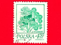 POLONIA - Usato - 1974 - Disegni Di Fiore Di Wyspianski - Trifoglio - 4.50 Zl - 1944-.... Repubblica