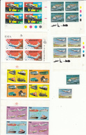 INDONESIA, Combined Lot Of Transport, Airplanes, Ships MNH** - Aviones