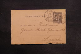 FRANCE - Entier Postal Type Sage De Paris Pour L 'Allemagne En 1894 - L 30954 - Postal Stamped Stationery
