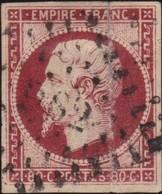 France   .    Yvert  .        17A           .     O     .    Oblitéré   .   /   .     Cancelled - 1853-1860 Napoleone III
