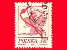 POLONIA - Usato - 1974 - Disegni Di Fiore Di Wyspianski - Rose - 1.50 - 1944-.... Repubblica