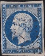 France   .    Yvert  .        14Aa          .     O     .    Oblitéré   .   /   .     Cancelled - 1853-1860 Napoléon III