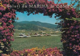 AEROPORTO-AEROPORT-AIRPORT-FLUGHAFEN-CARTOLINA VERA FOTOGRAFIA-ISOLA D'ELBA-ITALY-VIAGGIATA IL 10-4-1972 - Aérodromes