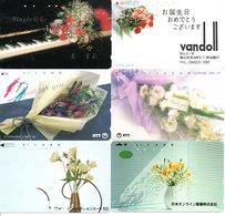6 Télécartes Japon Japan Phonecard Bouquet Fleur Flower Fleurs (D 514) - Fleurs