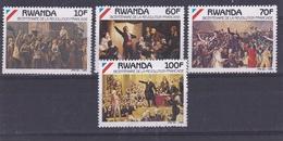 RWANDA    : Bicentenaire De La Révolution Française 1289 à 1292  Neuf XX - Révolution Française