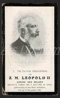 Doodsprentje / ROYALTY / Belgium / Belgique / België / Roi Leopold II / Koning Leopold II / 1909 / 2 Scans - Religion & Esotérisme