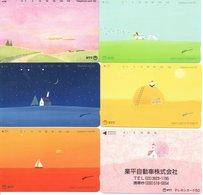 6 Télécartes Japon Japan Paysage   (D 515) - Paysages