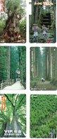 6 Télécartes Japon Japan Arbre Paysage Arbres Tree Forêt  (D 516) - Paysages