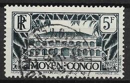 MOYEN CONGO BRAZZAVILLE 5F VERT-BLEU N° 132 JOLI CACHET A DATE DU 6 JUIN 35 - Used Stamps
