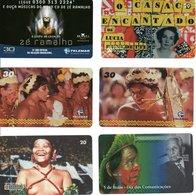 6 Télécartes Brésil Brazil Phonecard (D 517) - Culture