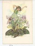 Erythronium Dens-canis, Dent-de-chien Et Jeune Fille. Signée Anne-Marie Schwarz-Torinus. - Fleurs