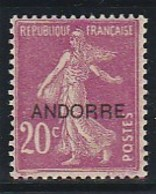 ANDORRE FRANCAIS 8 BIEN CENTRE ET SANS CHARNIERE - Französisch Andorra