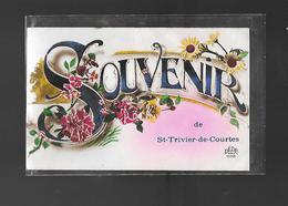 C.P.A. UN SOUVENIR DE SAINT TRIVIER DE COURTES 01 - Francia