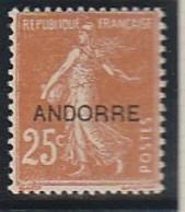 ANDORRE FRANCAIS 9 BIEN CENTRE ET SANS CHARNIERE - Französisch Andorra