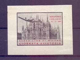 CINDERELLA ERINNOFILIA GIORNATA AVIATORIA AEROPORTO FORLANINI MILANO 1947 (GIUGN190024) - Erinnofilia