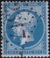 France   .    Yvert  .       22a        .     O     .    Oblitéré   .   /   .     Cancelled - 1862 Napoléon III