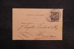 FRANCE - Entier Postal Type Sage De Paris Pour La Suisse En 1895 - L 30968 - Postal Stamped Stationery