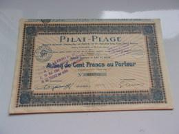 PILAT PLAGE (1927) Arcachon , Gironde - Non Classés