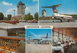 AEROPORTO-AEROPORT-AIRPORT-FLUGHAFEN-AERODROM-ZAGREB-CARTOLINA VERA FOTOGRAFIA-VIAGGIATA IL 7-6-1972 - Aerodromi