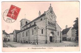 1907 - OBLITÉRATION SUISSE AMBULANT N° 6 Sur TIMBRE FRANÇAIS SEMEUSE 10c ROUGE Sur CPA POUGUES LES EAUX NIEVRE - Marcophilie (Lettres)