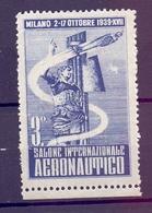 CINDERELLA ERINNOFILIA SERIE SALONE INTERNAZIONALE AERONAUTICO  1939 (GIUGN190028-30) - Erinnofilia