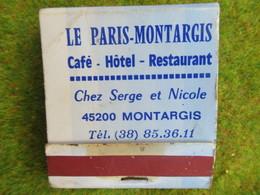 Pochette D'Allumettes LE PARIS-MONTARGIS 45200 MONTARGIS LOIRET - Other