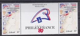 NOUVELLE CALEDONIE   :  Bicentenaire De La Révolution Française  579 A Neuf XX - Franz. Revolution