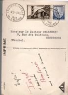 Andorre Le Vieille 1949 - Carte Laboratoires Ionyl - 2 Scans - Lettres & Documents