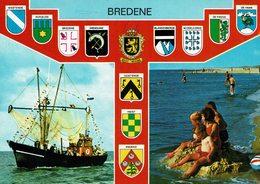 BREDENE-multivues-Bateau De Pêche-armoiries Plages - Bredene