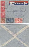 """Nicaragua  1937  Air Mail Cover Grenada To Germany   """"payment Request"""" By """"invoice"""" - Nicaragua"""