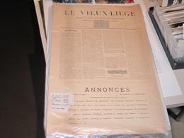 JOURNAL LE VIEUX LIEGE - 1895 - 1ere Année - 34 Numeros - Complet - Bon Etat - Bélgica