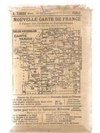 Carte TARIDE N°8 - Environs De Paris Section Sud Ouest  - Carte Taride Routière - Cartes Routières