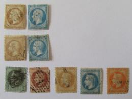 France - Lot De Timbres Napoléon III Dont Non-dentelés 13 Et 14 - A étudier - Collections