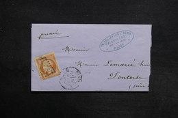FRANCE - Lettre De Paris Pour Pontoise En 1858 , Affranchissement Napoléon  - L 30984 - Marcophilie (Lettres)