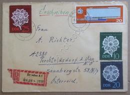 Storia Postale - DDR Germania Est 1966 - Lettera Con Interessante Affrancatura - Francobolli