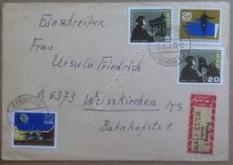 Storia Postale - DDR Germania Est 1966 - Raccomandata Interessante Affrancatura - Francobolli