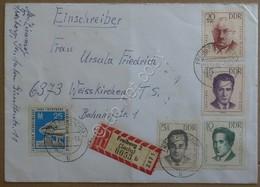 Storia Postale - DDR Germania Est 1962 - Raccomandata Interessante Affrancatura - Francobolli