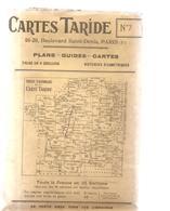 Carte TARIDE N°7 - Paris Brie Champagne Sud - Carte Taride Routière - Cartes Routières