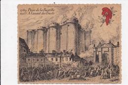 CP 1789 Prise De La Bastille 1945 A L'assaut Des Trusts.Comité Liberation Du RhoneEtats Renaissance Française Paris 1945 - Patriotic