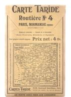 Carte TARIDE N°4 - Paris Normandie Nord - Carte Taride Routière - Cartes Routières