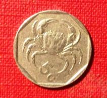 Malta, 1991- 5 Cents- Crab. Circulated. - Malta