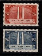 YV 316 & 317 N** Vimy Cote 72 Euros - Frankreich