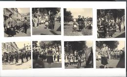 TREGUIER 1959  Fête Bretonne Défilé Costumes Biniou Bombarde Sonneurs 15 Vues Env. 7,5 X 8 - Photos