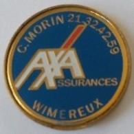 Jeton De Caddie - AXA - Assurances - C. MORIN - WIMEREUX (62) - En Métal - Neuf - - Jetons De Caddies