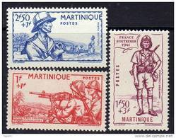 Martinique N° 186 / 88 XX  Défense De L'Empire Les 3 Valeurs Sans Charnière TB - Martinica (1886-1947)