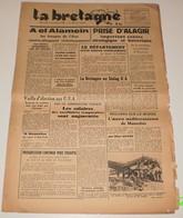 La Bretagne Du 4 Novembre 1942.(Bousquet-Mussolini-Clark Gable) - Revues & Journaux