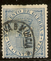 España Edifil 142 (º) 10 Céntimos Azul  Escudo España  1874  NL1052 - 1873-74 Regencia